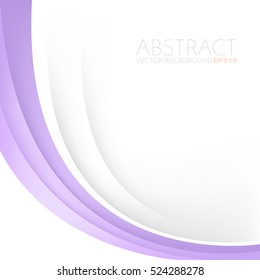 Purple curve line background pink vector overlap paper layer with white space for text and message design