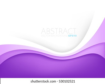 Purple curve line layer background with white space for add text , vector