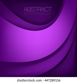 Purple curve line overlap paper layer vector background with space for artwork design