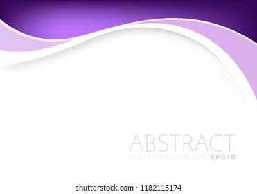 Purple curve line vector background with white paper space for background design