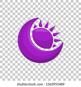 Purple Darkness Eclipse Element Icon Cartoon for Role Playing Games