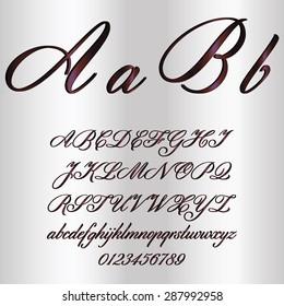 Purple Decorative Font