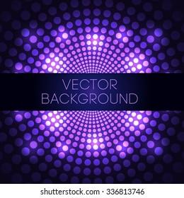 Purple Disco Ball Vector Background