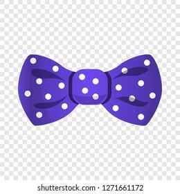Purple dotted bowtie icon. Cartoon of purple dotted bowtie vector icon for web design for web design