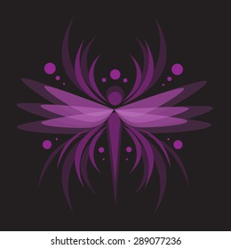 Purple dragonfly Background