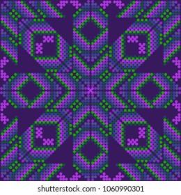 Purple embroidery design