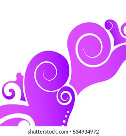 Purple Floral art design element