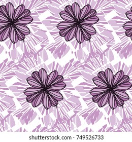 Purple Floral Geometric Fragmentation