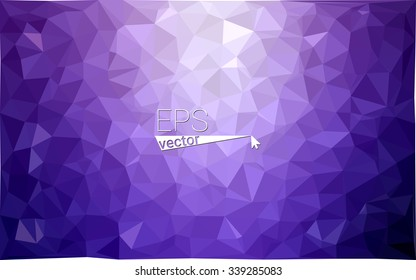 Purple geometric rumpled triangular low poly origami style gradient illustration graphic background. Vector polygonal design for your business.