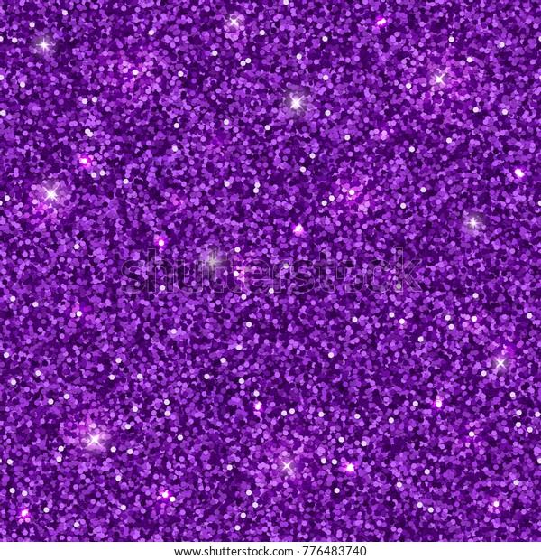 Purple glitter texture, seamless pattern. Vector