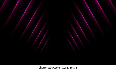 Purple glowing neon lines abstract background. Vector design