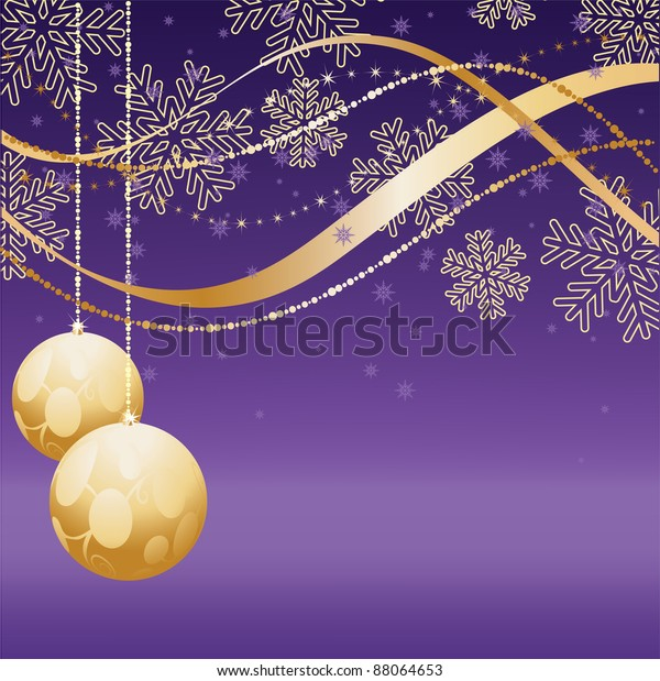 purple and gold christmas snowflake decoration