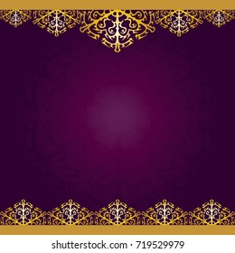 Purple with gold and mandala background