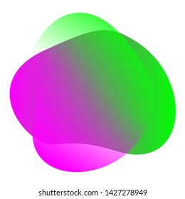 purple green blob shape free from for background, blob flat geometric simple, liquid stain brush flat blob for label ad copy space, fluid spot template for graphic, simple banner colored gradient wave