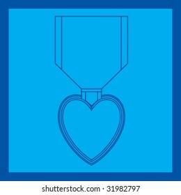 purple heart medal blueprint