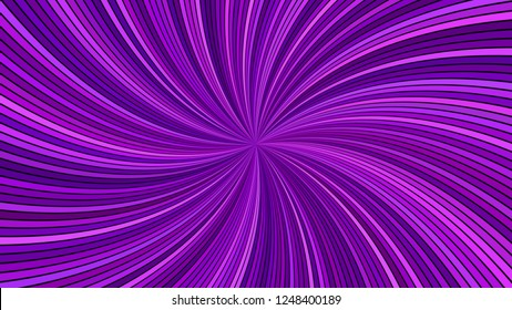 Purple hypnotic abstract swirl stripe background - vector curved ray graphic
