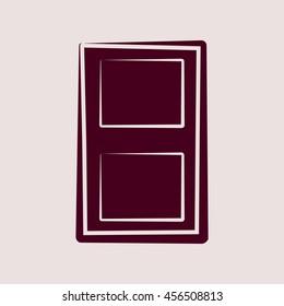 Purple Icon of Door. Eps-10.