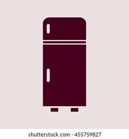 Purple Icon of Refrigerator. Eps-10.