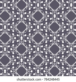 Purple Lace Repeat Pattern Hand Drawn Elements