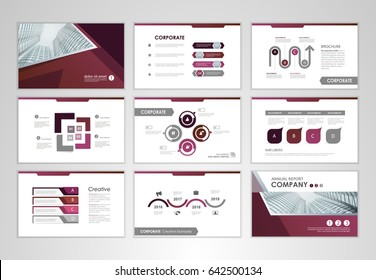 Purple layout brochure design, brochure template for business presentation,  brochure annual report, flyer and  leaflet cover with  Infographic brochure elements for business data visualization.