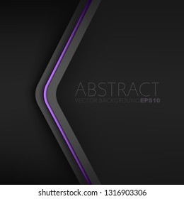 Purple line triangle vector background overlap layer on black space for background design