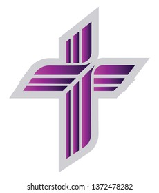 Purple Lutheran sign vector illustration on a white background