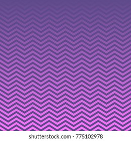 Purple to Magenta Ombre Chevron Vector Patterns. Gradient Fade Texture Dip Dye Style. Ultra Violet 2018 Color of the Year. Zigzag Stripes Blending into Solid Color. Horizontally Seamless Pattern Tile