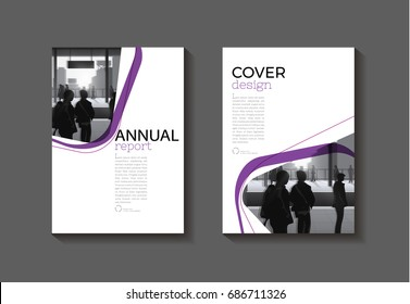 purple  modern  cover book Brochure template, design, annual report, magazine and flyer layout Vector a4