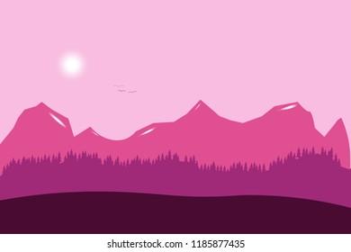 purple mountains sky cluds