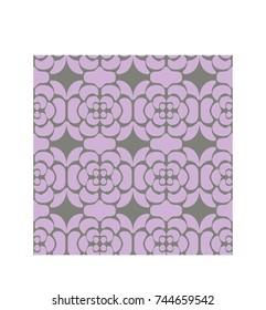 Purple on Purple Geometric Rose Pattern