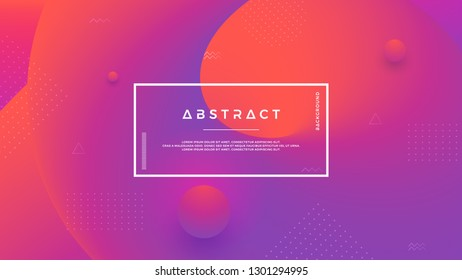 Purple, orange abstract background with a dynamic liquid shape. Minimal fluid background for posters, placards, brochures, banners, web pages, headers, covers, and other. Eps10 vector background.