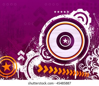 Purple and orange abstract grunge background design