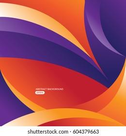 Purple Orange Curvy Abstract Background Wallpapper