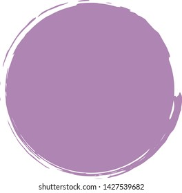 Purple Paint circle with brush, isolated on white background