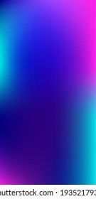 Purple, Pink, Turquoise, Blue Gradient Shiny Vector Background. Dreamy Neon Bright Trendy Wallpaper. Vertical Slim Screen Size Funky Gradient. Fluorescent Gradient Overlay Vibrant Defocused Cover.