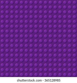 Purple plastic construction plate. Perfect vector background of closeup gloss plastic construction block.