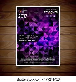 Purple Polygonal Abstract Brochure Design Template