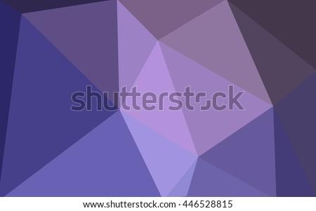 vetor stock de purple polygonal illustration which consist triangles
