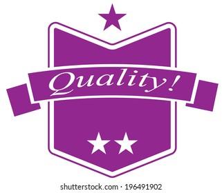 Purple Quality Sticker