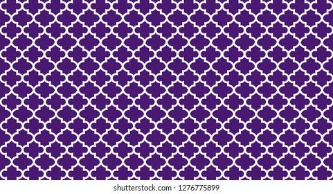Purple Quatrefoil Background
