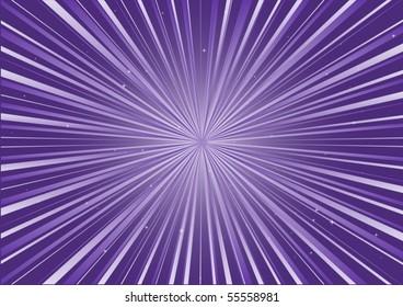 Purple radial blast and stars