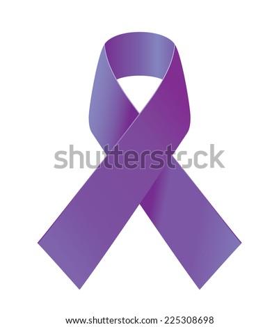 Purple Ribbon Symbol General Cancer Awareness Stock Vector Royalty