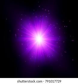 Purple Shine Starburst - Vector Radiant Star Rays