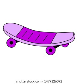 Purple skate on a white background