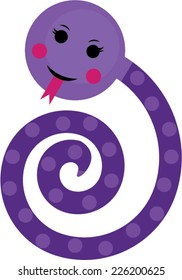 Purple Snake Cartoon