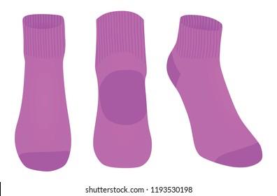 Purple socks. vector illustration