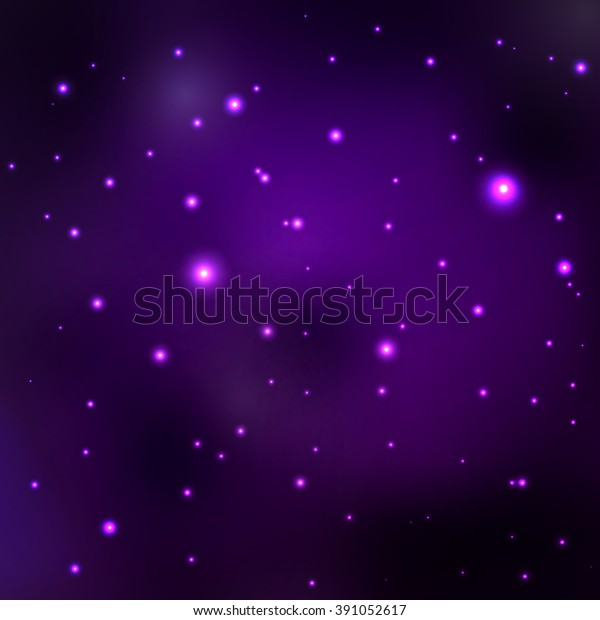 Purple Space Nebula Abstract Space Background Stock Vector