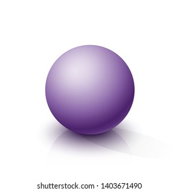 Purple sphere on a white background. Vector illustration