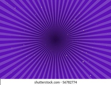 Purple stripes spreading in space
