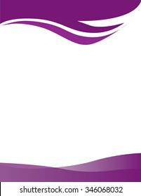 Purple Swirl Border Background Letterhead
